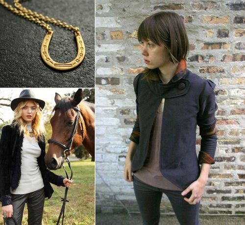 Horseshoe necklace riding jacket equestrian dreams