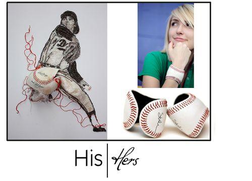 His_hers_baseball_cuff_baseball_artwork