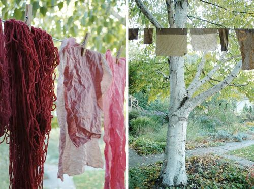 Walnut and cochineal dye by love it a lot