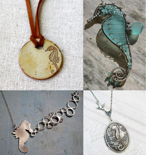 SEAHORSE jewelry pendant collection
