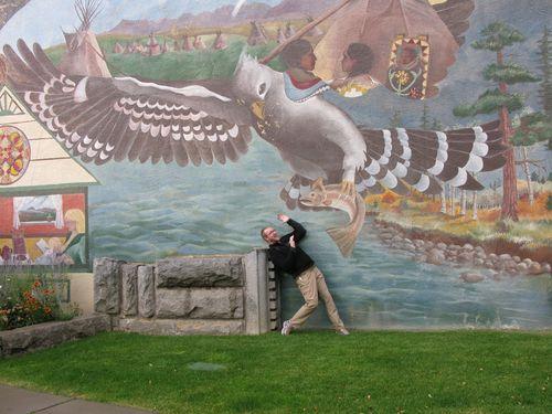The bird gets the boy