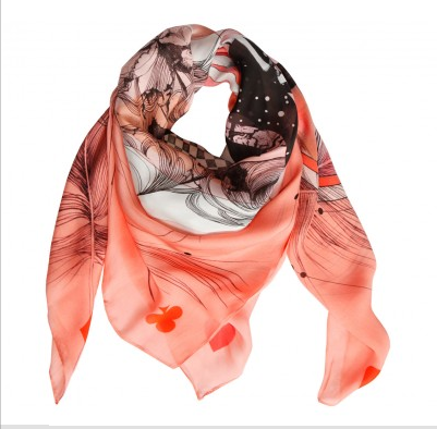 Coral.flamingo.girl.scarf